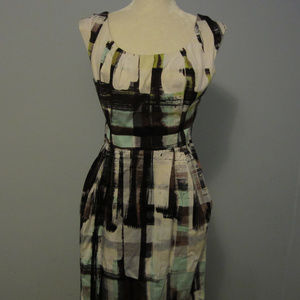 Maggy London Sleeveless Cotton Dress ~ Size 8